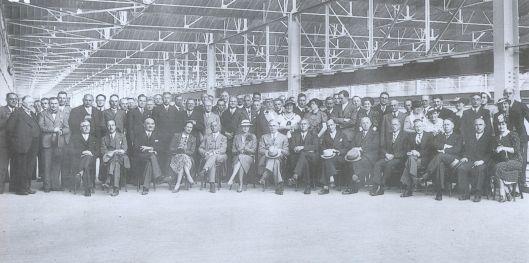 Officiële opening van asbestfabriek in Goor (Ov.) op 21 juli 1937 door Commissaris van de Koningin mr.A.E.Baron  van Voorst tot Voorst (Jan ten Hove).