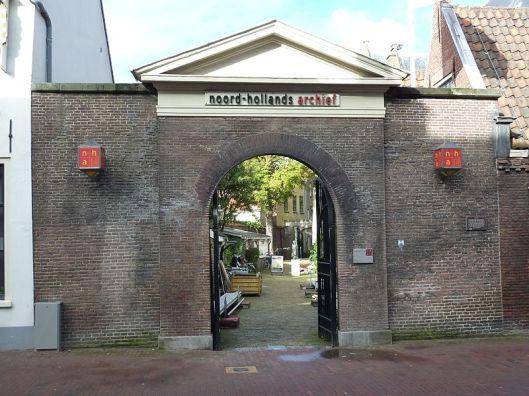 Entree Noord-Hollands Archief, locatie Jansstraat 40.