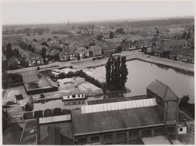 Havengezicht Heemstede vanaf de gasfabriek, 1953 (NHA)