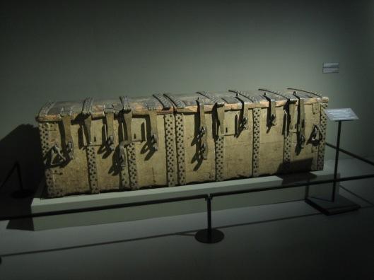 In deze kist met 13 sloten vergrendeld was in de 16e/17e eeuw het archief van de stad Antwerpen opgeborgen
