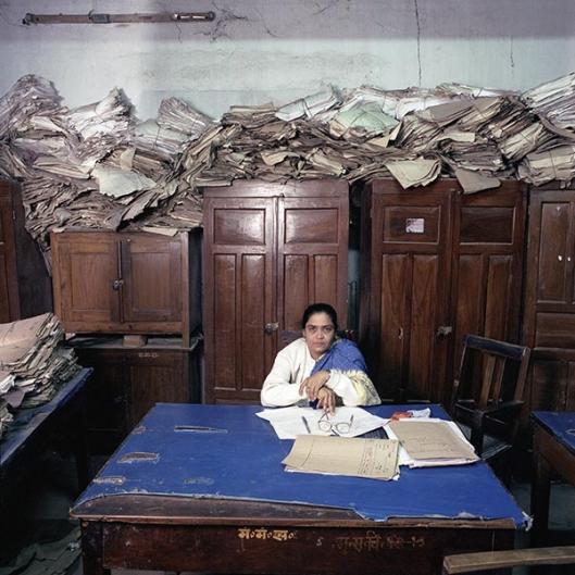 Mw.Sushma Prasad (1962) beheert sinds het overlijden van haar echtgenoot het overheidsarchief van de deelstaat Bihar in India
