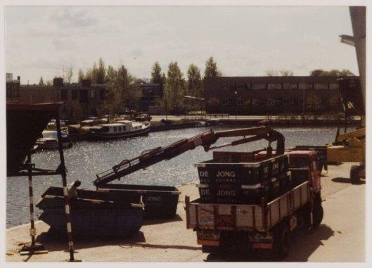 Zand- en grintbedrijf De Jong aan de Kanaalweg Heemstede in 1982