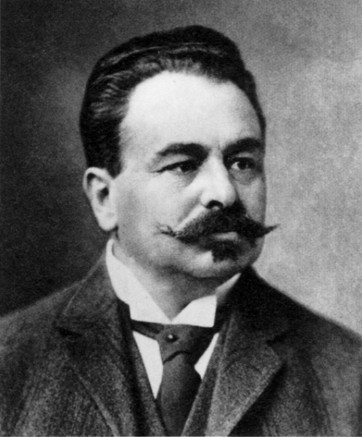 Portret van Ludwig Hatschek (1856-1914) uit omstreeks 1900, uitvinder en grondlegger van het Eternit asbestconcern