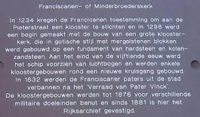 Informatiebord Franciscanerklooster/archief