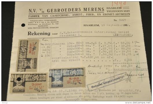 Factuur Gebr. Merens Haarlem