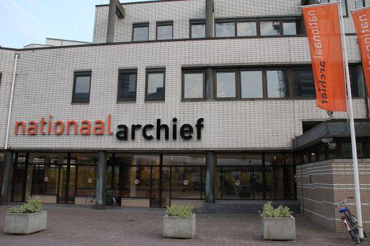 Entree Nationaal Archief in Den Haag