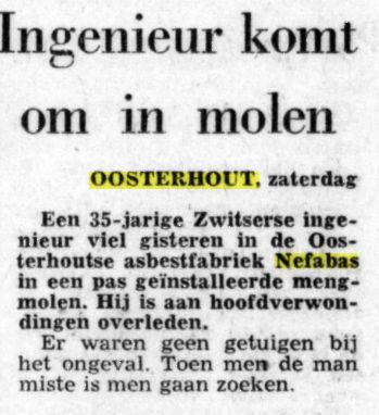 Bericht uit De Telegraaf van 9-10-1971