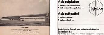 Advertentie asbestfabriek Nefabas in Oosterhout