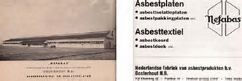 Advertentie asbestfabriek Nefabas in Oosterhout