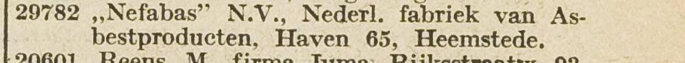 Vermelding van Nefabas in: Bloemendaalsch Weekblad, december 1939