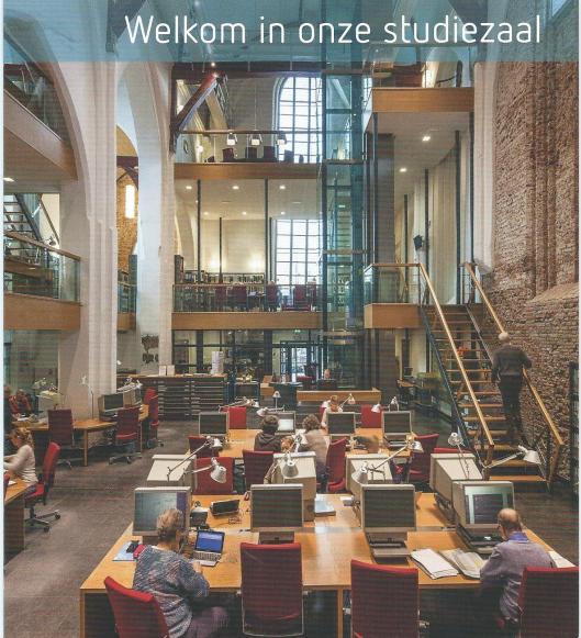 Studiezaal in Noord-Hollands Archief, voormalige Janskerk, Haarlem