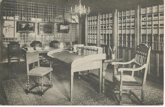 Kamer van rijksarchivaris Gonnet in de Vleeschhal te Haarlem