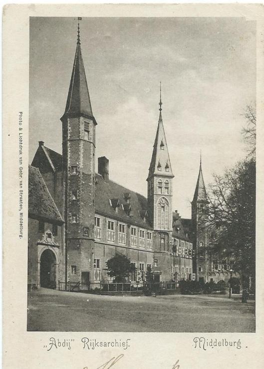 Abdijgebouw met huisvesting van het Rijksarchief van Zeeland in Middelburg