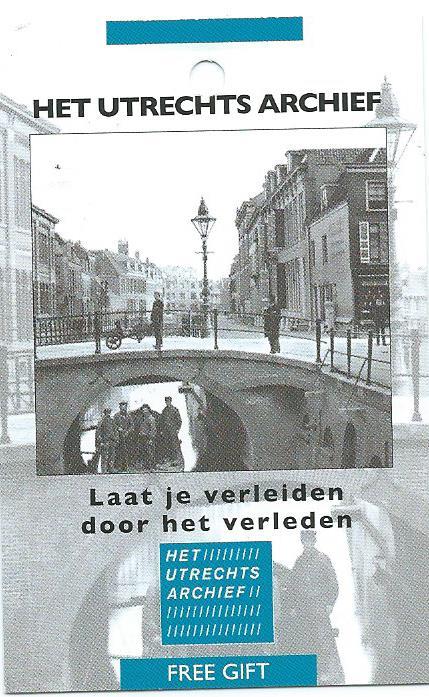 Minicard van het Utrechts Archief, gevestigd in het Museumkwartier, Hamburgerstraat 28