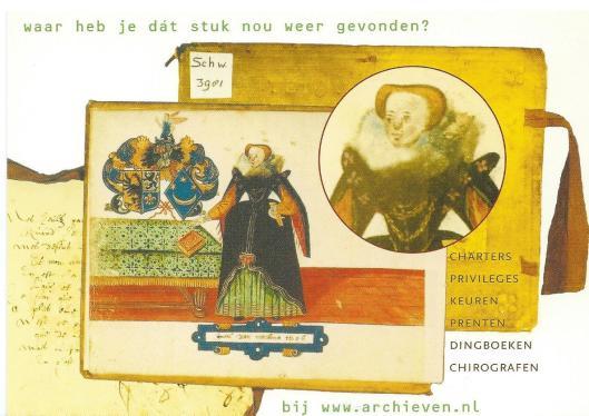 Nog een kaart uit archieven-promotiesent 2003, in dit geval een uitgave van De Ree Archiefsystemen, Groningen
