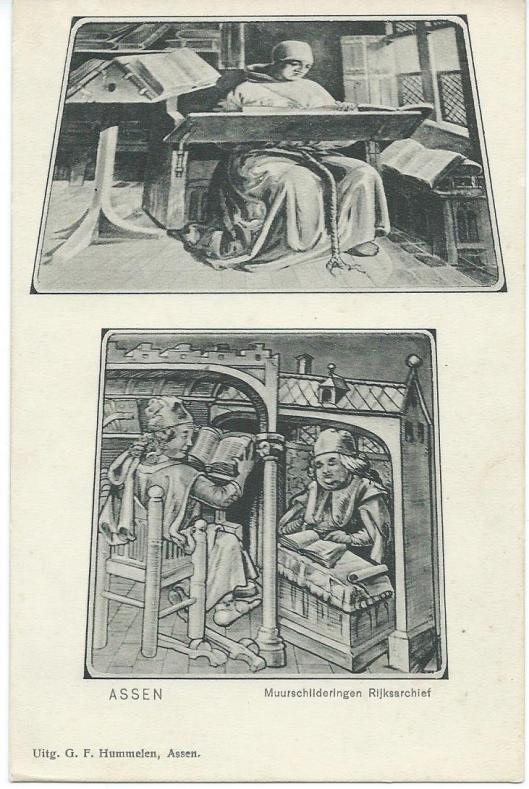 Muurschilderingen in het rijksarchief van Drenthe, Assen