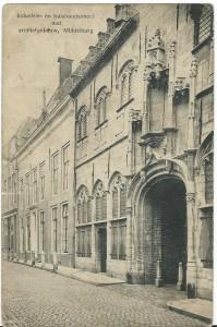 Vm. Industrie- en huishoudschool met archiefgebouw Middelburg, circa 1920