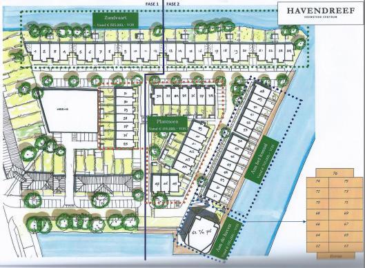Plattegrond van het Plan Havendreef in Heemstede