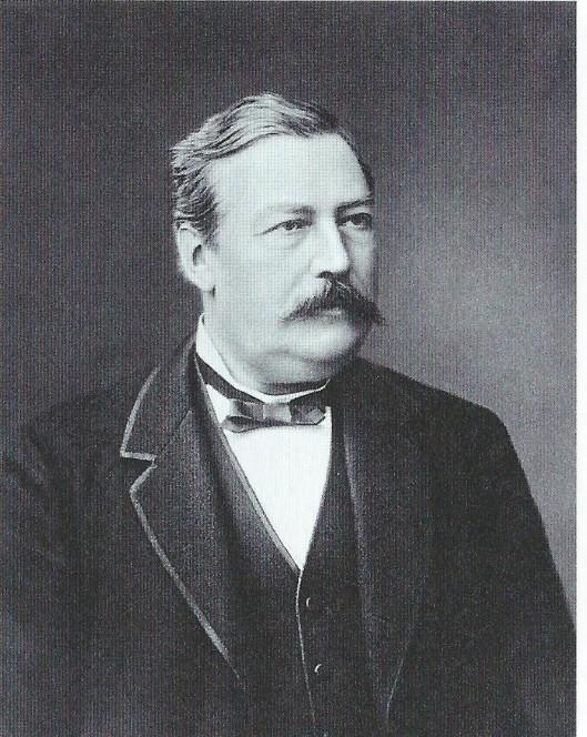 Portret van de eerste officiële gemeentearchivaris van Haarlem mr.A.J.Enschedé, die deze functie van 1857 tot 1896 vervulde.