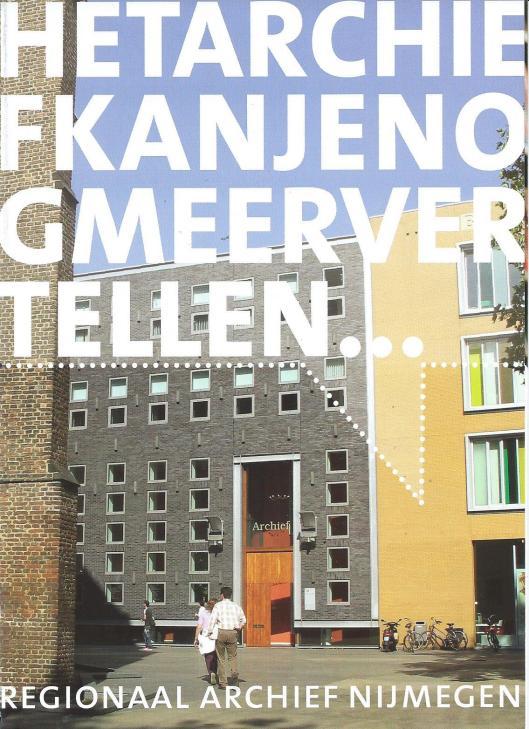Vooromslag van folder regionaal archief Nijmegen
