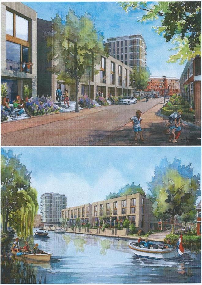 Volgens de plannen van Havendreef b.v. van begin april 2015 zijn 76 woningen voorzien, waarvan 47 grondgebonden 'traditionele woningen', 14 terraswoningewn aan het Heemsteedse kanaal en 15 appartemewnten in