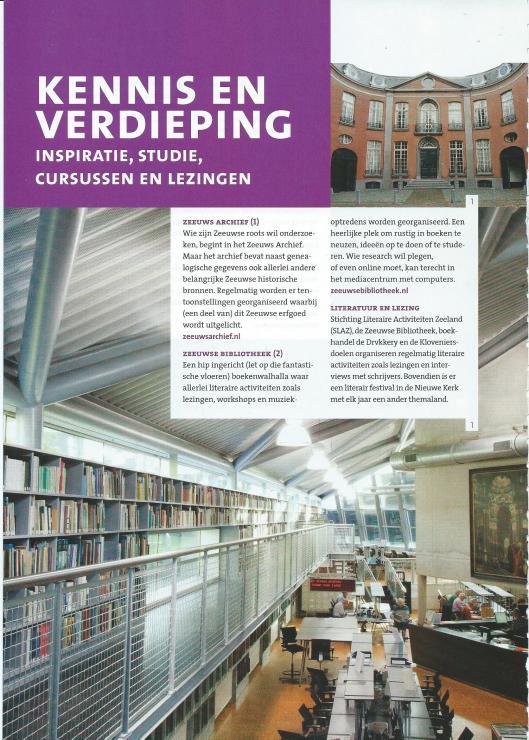 Foto's van gebouw en leeszaal van het Zeeuws Archief in Middelburg