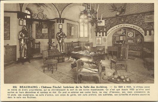 Beauraing: kasteel, interieur van archiefzaal