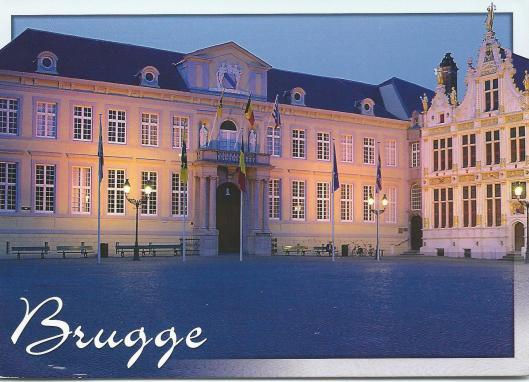 Links gebouw van het stadsarchief Brugge (Andrew Critschell)