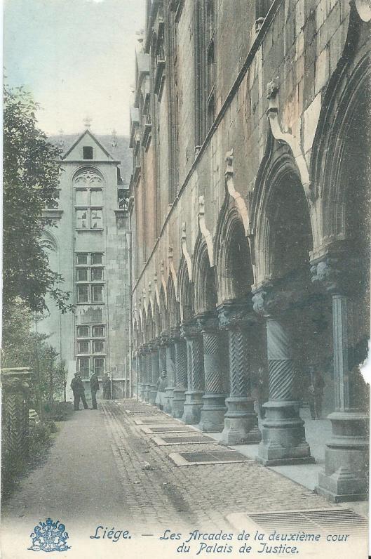 Vm. paleis van de prins-bisschoppen, later paleis van Justitie in Luik, is ook huisvesting geweest van bibliotheek en archief