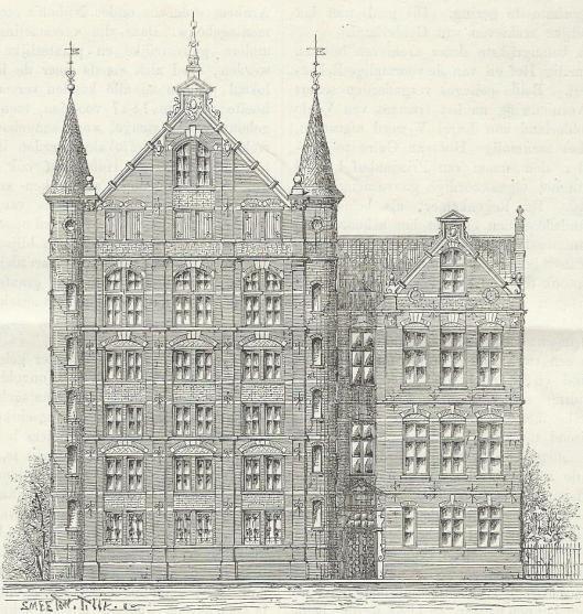 Illustratie bij een artikel van mr.Th.H.F.van Riemsdijk: Het oude Geldersche Archief. In: Eigen Haard, 1878, p. 94-96.