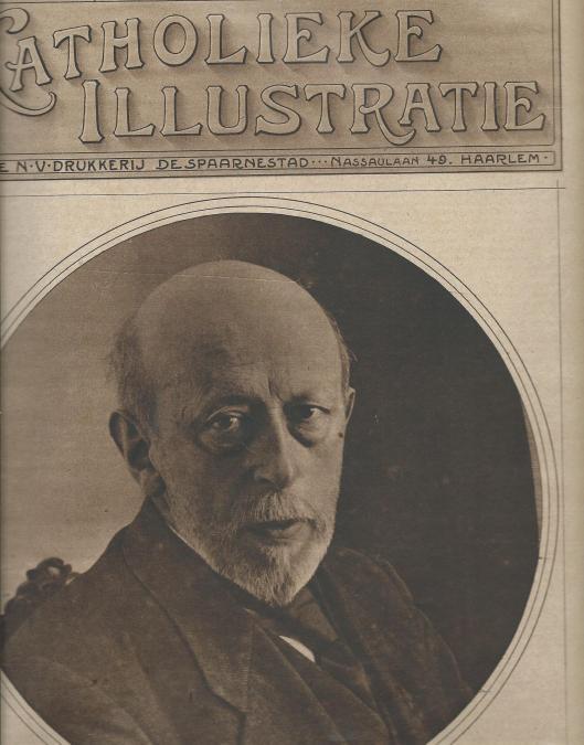 OP het vooromslag van de Katholieke Illustratie van 20 september 1919 is een foto opgenomen van A.J.A.Flament, rijksarchivaris in Limburg.