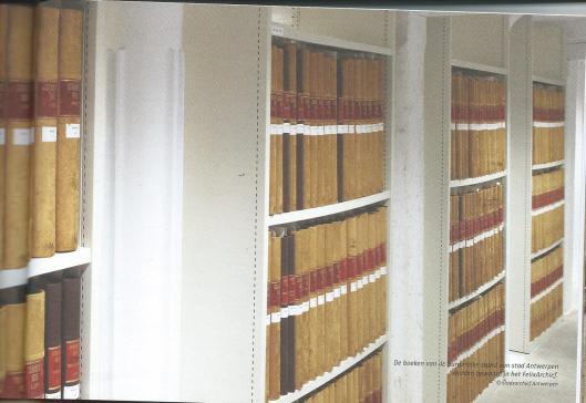 De boeken van de burgerlijke stand in het stadsarchief Antwerpen