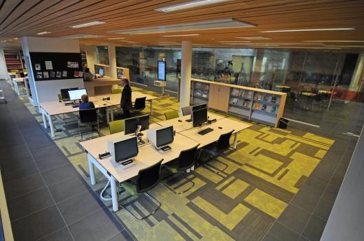 Studiezaal van het vernieuwd archief in Tiel