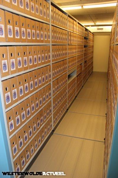 Kijkje in de vernieuwde archiefbewaarplaats in Vlagtwedde. O.a. het luchtbehandelingskanaal is angepast