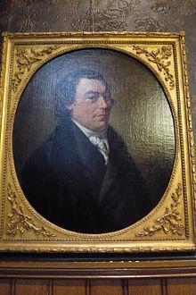 Portret van mede-oprichter van nutsbibliotheek Haarlem Adriaan Loosjes, door Wybrand Hendriks, 1796, in bezit van Doopsgezinde Gemeente Haarlem