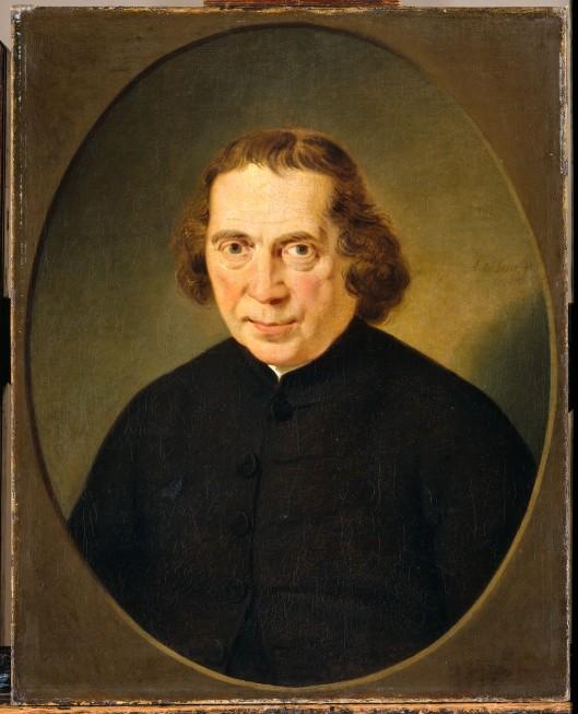 Schilderij met portret van Jan Nieuwenhuijzen (1724-1806) door Adeiaan de Lelie, 1806 (Rijksmuseum)