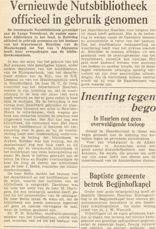 Uit: Haarlem's Dagblad van 21-9-1953