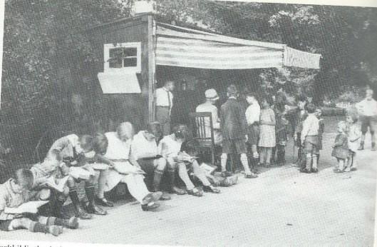 Parkbibliotheek Oosterpark Amsterdam, omstreeks 1930