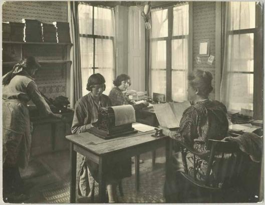 Administratie van de Centrale Vereeniging voor Reizende Bibliotheken in Broek in Waterland, 1920