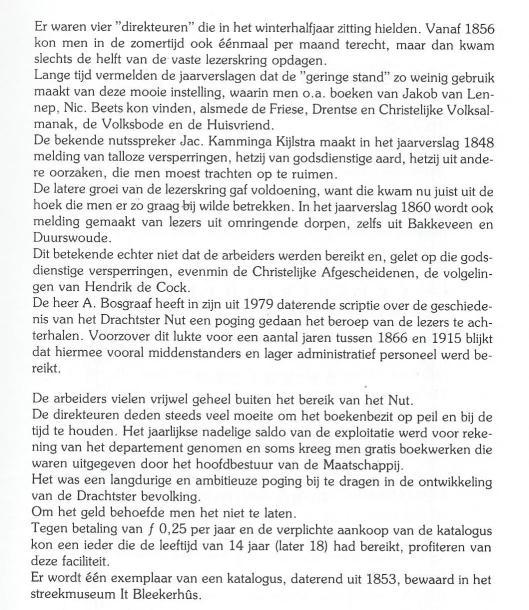 Vervolg: 'Lezen en lenen in Smallingerland' door P.van Schaik