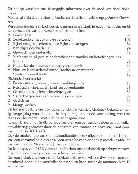 Informatie over catalogus leesbibliotheek