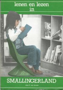Vooromslag van 'Lenen en lezen in Smallingerland' [Drachten] met veel informatie over de Nutsbibliotheek op basis van een uit 1979 daterende scriptie van de heer A.Bosgraaf.