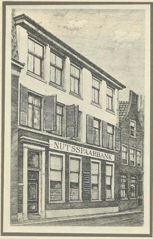 Na 1872 was de hoofdvestiging van de Haarlemse Nutsspaarbank gehuisvest op het adres Jansstraat 19 (afbeelding naar een tekening van J.van Breemen Jzn.).