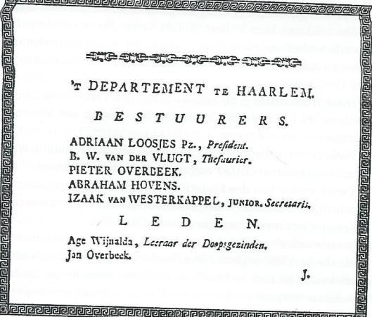 Eerste bestuurders van Nut departement Haaelem