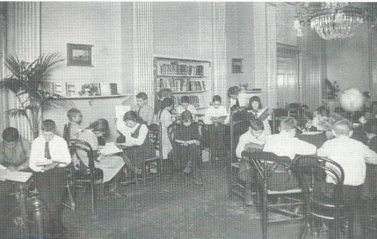 Kinderleeszaal van het Nut, Nieuwe Zijds Voorburgwa,l 1914