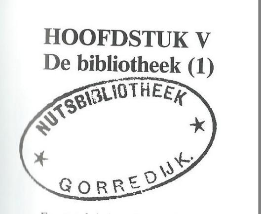 In heereveen is in 1796 de eerste volksbibliotheekl van het Nut in Heereveen gesticht, Leeuwarden en Dokkum volgden in 1799. In 1816 is de Nutsbibliotheek van Gorredijk opgericht. Bovenstaand een bibliotheekstempel van Gorredijk