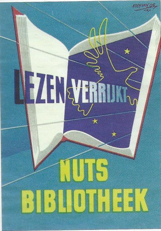 Flyer uitgegeven door de nutsbibliotheken