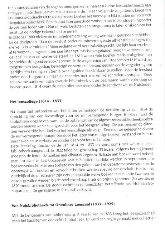 Uit: Van Volksbibliotheek tot Openbare Bibliotheek in Purmerend (1798-1998)