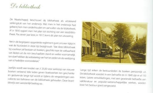 Pagina uit gedenkuitgave van departement Franeker der Maatschappij tot Nut van 't Algemeen 1809-2009.