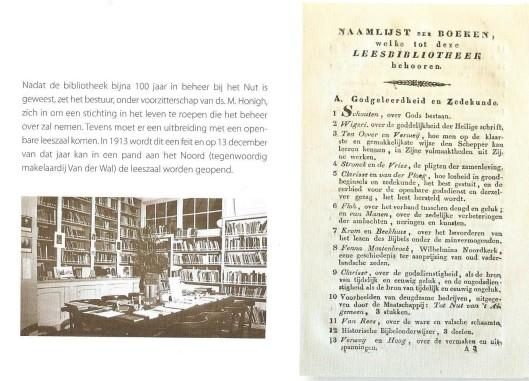 Vervolgpagina bibliotheek van 't Nut in Franeker. Gedenkuitgave 2009.